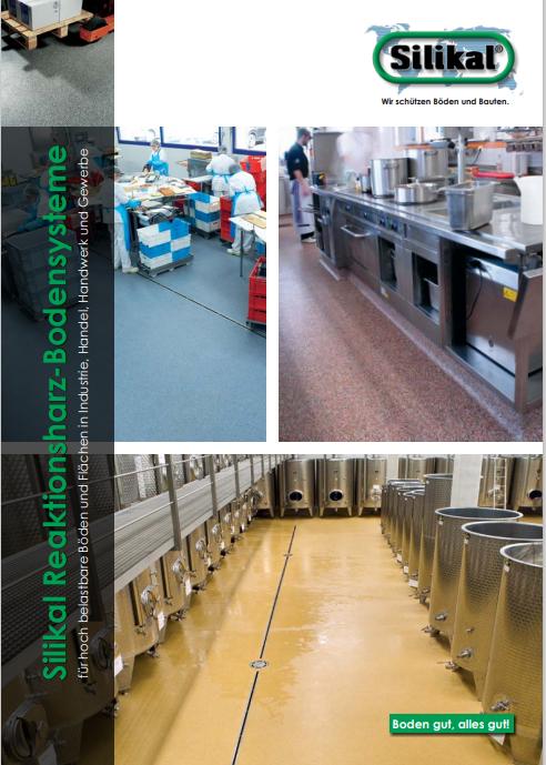 Broschüre für Silikal Reaktionsharz Bodensysteme