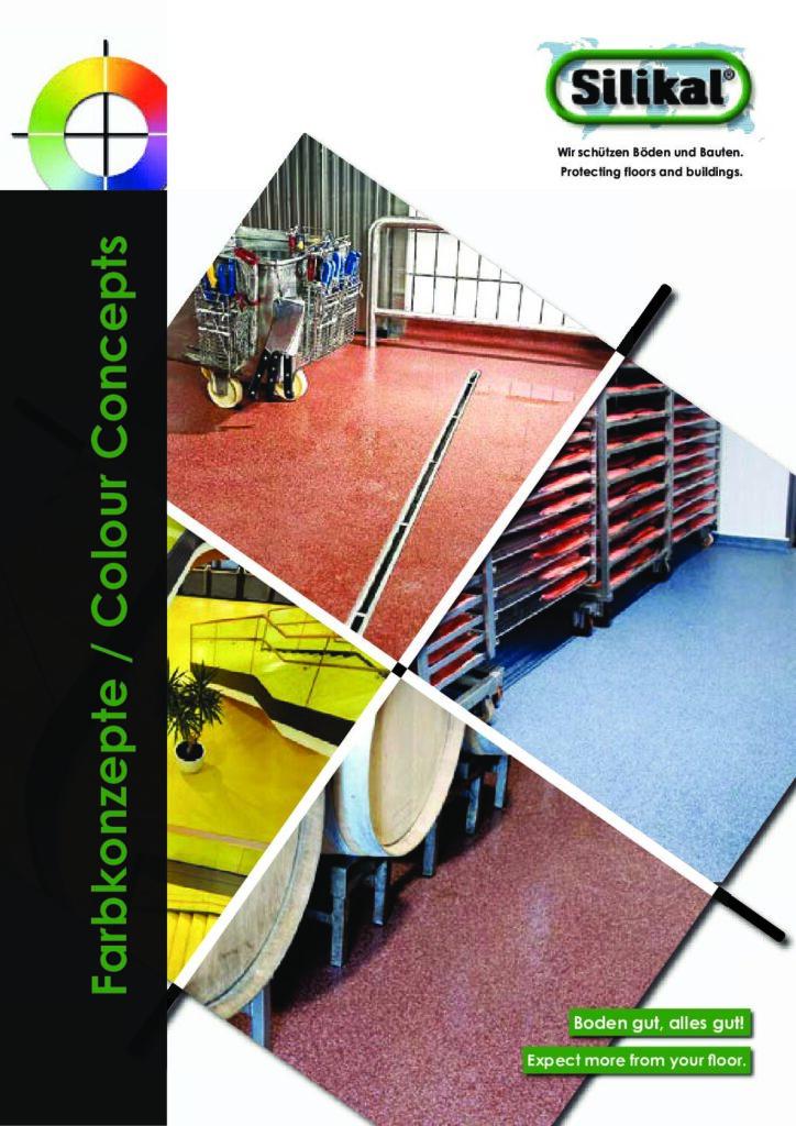 Broschüre Farbkonzepte für Bodenbeschichtungen