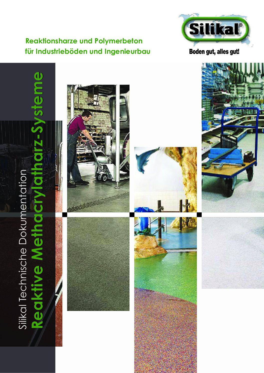 Silikal Broschüre für Reaktive Methacrylatharz Systeme