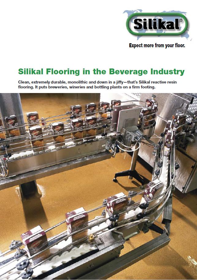Silikal Broschüre für Bodenbeschichtungen in der Getränkeindustrie